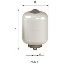 CIMM-ACS  5 lit. BOILER ΛΕΥΚΟ/ΧΡΩΜΕ