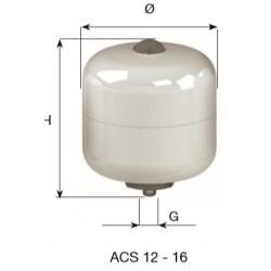 CIMM-ACS 12 lit. BOILER ΛΕΥΚΟ/ΧΡΩΜΕ