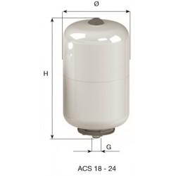 CIMM-ACS 24 lit. BOILER ΛΕΥΚΟ/ΧΡΩΜΕ