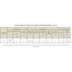 GLASS ΗΛΙΑΚΟΣ ΘΕΡΜΟΣΙΦΩΝΑΣ ΔΙΠΛΗΣ ΕΝΕΡΓΕΙΑΣ 120 lt.SONNE με ΣΥΛΛΕΚΤΗ PHAETHON 1.7 m2