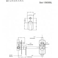 ΜΠΑΤΑΡΙΑ ΛΟΥΤΡΟΥ ΕΝΤΟΙΧΙΣΜΟΥ 2 ΕΞΟΔΩΝ EURORAMA SLOT 135030SL-400 BLACK