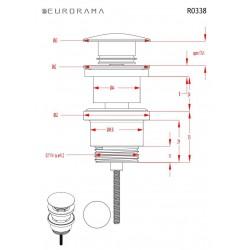ΒΑΛΒΙΔΑ ΝΙΠΤΗΡΟΣ CLIC-CLAC BRONZE EURORAMA R0338-220