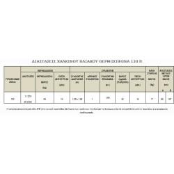 ΧΑΛΚΙΝΟΣ ΗΛΙΑΚΟΣ ΘΕΡΜΟΣΙΦΩΝΑΣ ΤΡΙΠΛΗΣ ΕΝΕΡΓΕΙΑΣ 120 lt.SONNE με ΣΥΛΛΕΚΤΗ ATLAS 1.59 m2