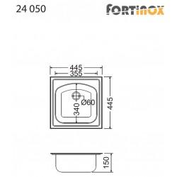 ΝΕΡΟΧΥΤΗΣ ΑΝΟΞΕΙΔΩΤΟΣ 44.5X44.5 VALLEY 24050 FORTINOX