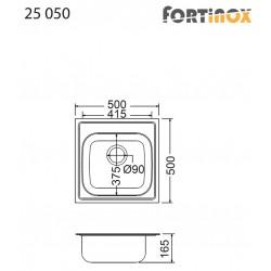 ΝΕΡΟΧΥΤΗΣ ΑΝΟΞΕΙΔΩΤΟΣ 50X50 VALLEY 25050 FORTINOX